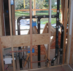 in home plumbing installation